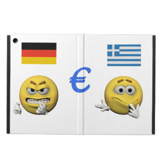 Coque iPad Air Émoticône jaune ou smiley et euro