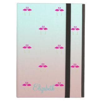 Coque iPad Air Flamants roses adorables dans Amour-Personnalisé