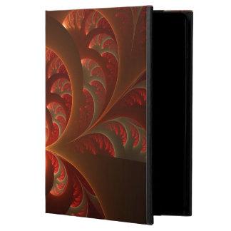 Coque iPad Air Fractale moderne abstraite lumineuse de rouge
