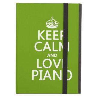 Coque iPad Air Gardez le calme et aimez le piano (toute couleur