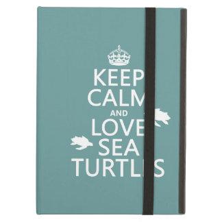 Coque iPad Air Gardez le calme et aimez les tortues de mer