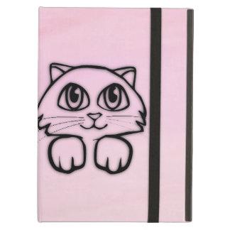 Coque iPad Air Grand rose observé mignon de chat