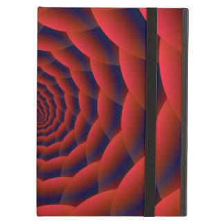 Coque iPad Air iCase rouge de Powis de spirale de peau de serpent