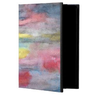 Coque iPad Air Jaune d'arc-en-ciel de bois d'ébène