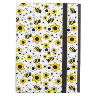 Coque iPad Air Le miel gaffent le jaune de fille de bourdon