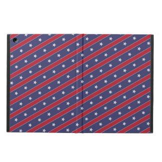 Coque iPad Air Le rouge bleu barre le profil sous convention