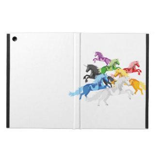 Coque iPad Air Licornes sauvages colorées d'illustration