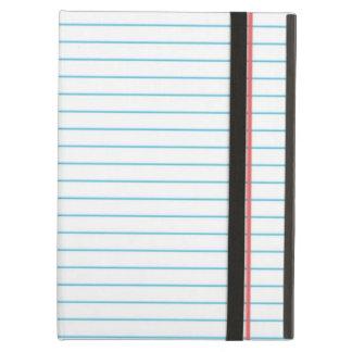 Coque iPad Air Papier rayé | de carnet d'école pour l'étudiant de