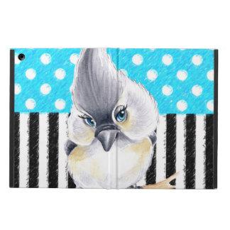 Coque iPad Air Point de polka bleu de mésange