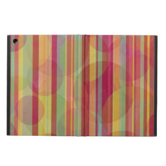 Coque iPad Air Rayures et cercles multicolores