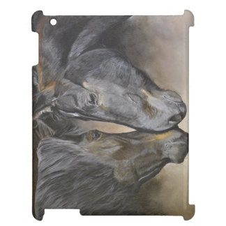 Coque ipad d'art de cheval