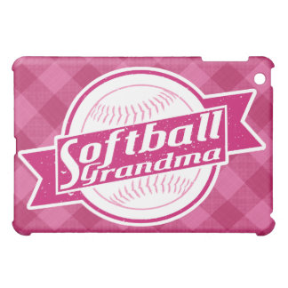 Coque ipad de grand-maman du base-ball