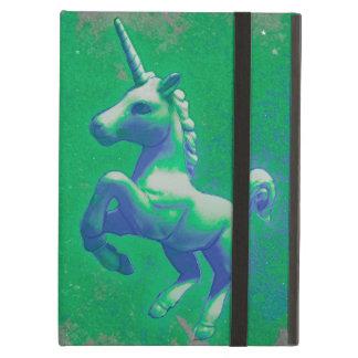 Coque ipad de licorne (rougeoyant vert)