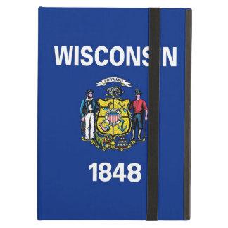 Coque ipad de Powis avec le drapeau du Wisconsin,