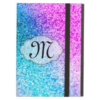Coque ipad Girly d'initiale de monogramme de scint