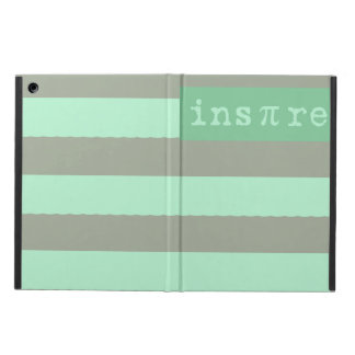 Coque ipad inspiré rayé vert en bon état moderne