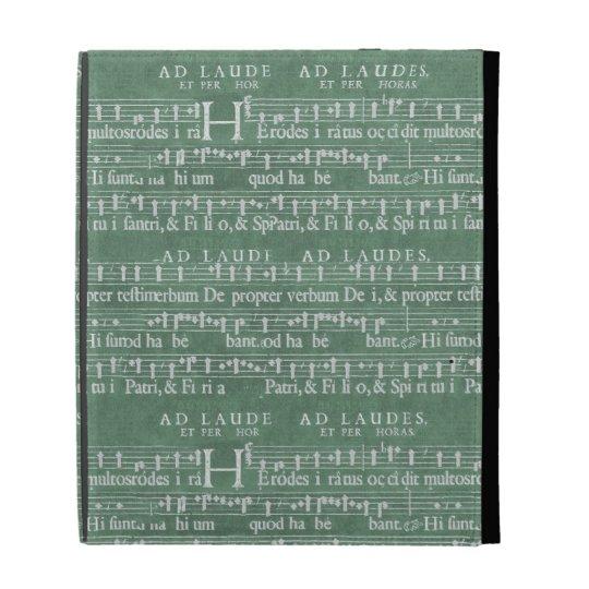 Coque ipad médiéval de manuscrit de musique