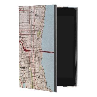 Coque iPad Mini 4 Carte topographique de ville de Seattle