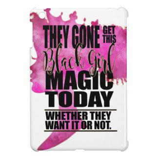 Coque iPad Mini Affirmation noire de magie de fille