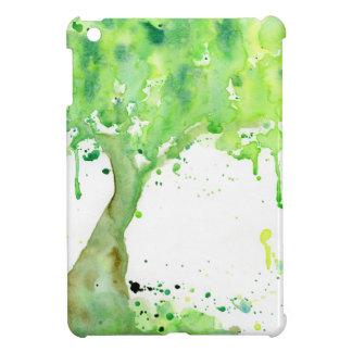 Coque iPad Mini Arbre abstrait de ressort d'aquarelle, voûte verte