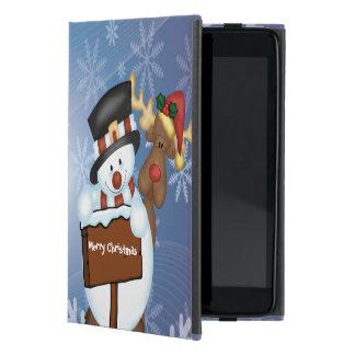 Coque iPad Mini Bonhomme de neige et renne