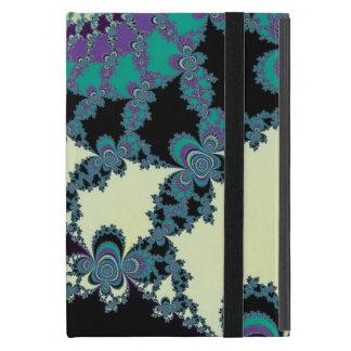 Coque iPad Mini Cas de monogramme de fractale de rideau