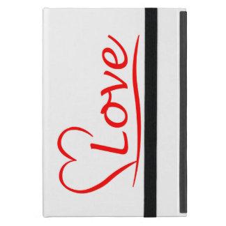 Coque iPad Mini Coeur avec des amours