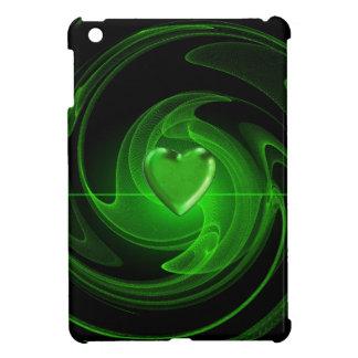 Coque iPad Mini Coeur en spirale vert