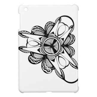 Coque iPad Mini Conception noire et blanche sur le mini cas