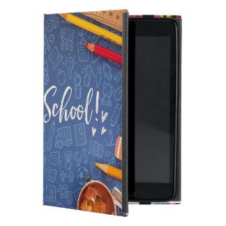 Coque iPad Mini De nouveau à la craie d'école et stationnaire