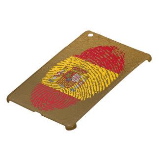 Coque iPad Mini Drapeau d'empreinte digitale de contact d'Espagnol