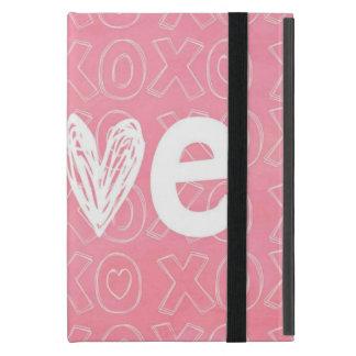Coque iPad Mini Éclaboussure adorable de l'amour rose
