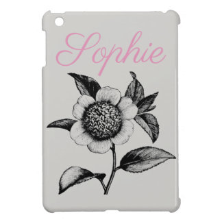 Coque iPad Mini Fleurs vintages/victoriennes Personnalised