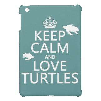 Coque iPad Mini Gardez le calme et aimez les tortues