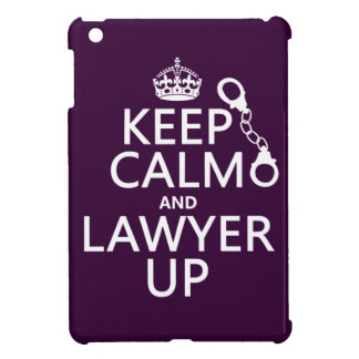 Coque iPad Mini Gardez le calme et l'avocat (toute couleur)