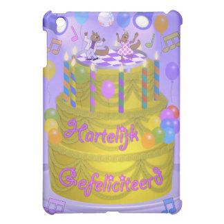"""Coque iPad Mini Gâteau de """"joyeux anniversaire"""" (néerlandais)"""