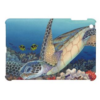 Coque iPad Mini Honu (tortue de mer verte)