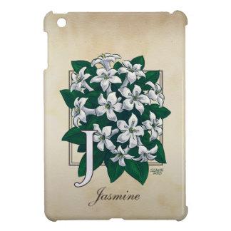 Coque iPad Mini J pour le monogramme floral de jasmin