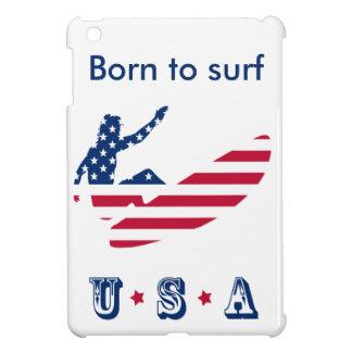 Coque iPad Mini Les Etats-Unis surfant le surfer américain