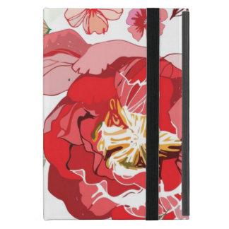 Coque iPad Mini Motif avec les fleurs rouges