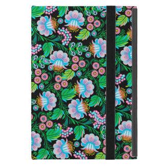 Coque iPad Mini Motif floral de joli art populaire dans le rose de