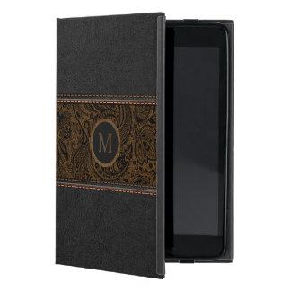 Coque iPad Mini Noir et copie en cuir vintage de Brown