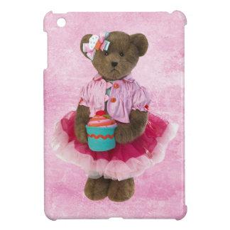 Coque iPad Mini Ours mignon avec cas d'iPad de petit gâteau le