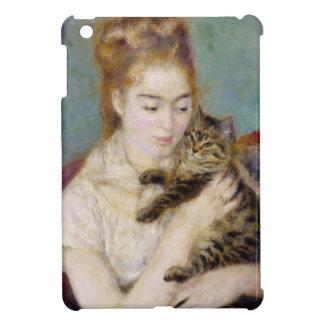 Coque iPad Mini Pierre une femme de Renoir | avec un chat