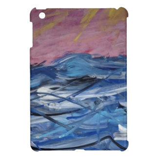 Coque iPad Mini Ressacs abstraits et coucher de soleil