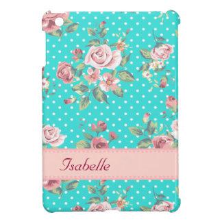 Coque iPad Mini Rétros roses vintages adorables gais personnalisés