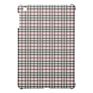 Coque iPad Mini Roses pâles/plaid noir Pern