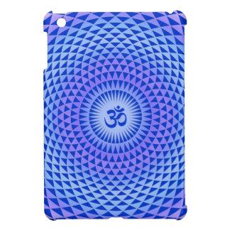 Coque iPad Mini Roue pourpre OM de méditation de fleur de Lotus