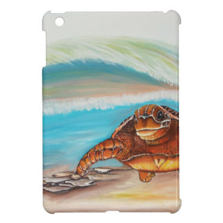 Coque iPad Mini Rupture de la tortue de mer de la crête de l'eau