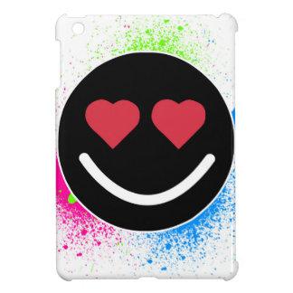 Coque iPad Mini Smiley Coeur